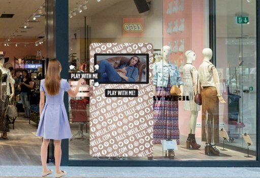 Interactive Window – Tally Weijl Milano
